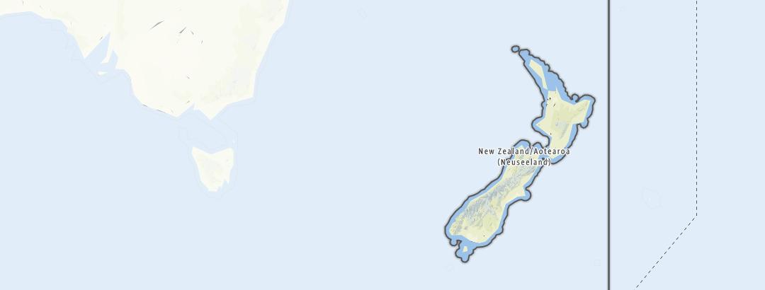 Hartă / Drumeții in Noua Zeelandă