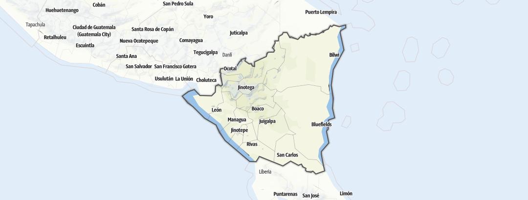 地图 / 尼加拉瓜