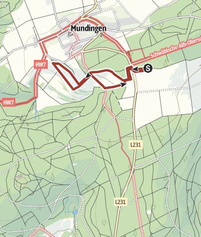 Karte / Lebens-Horizont-Weg - Rundweg bei Mundingen