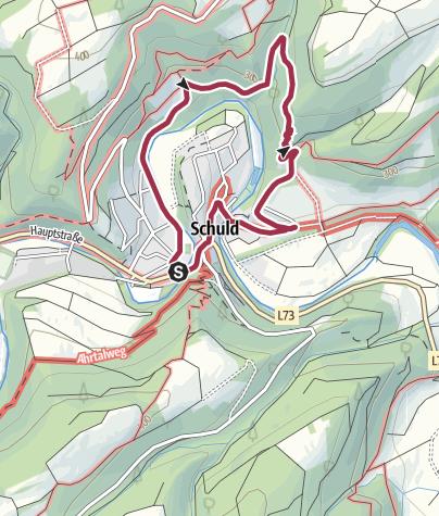 """Karte / kl. Rundwanderweg  Nr. 2  """"Durch die Spicherley"""""""