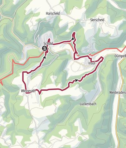 Karte / Rundwanderweg  Nr.  6  Schuld - Winnerath - Insul - Schuld