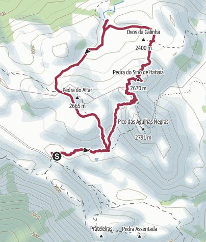 Map / Asa de Hermes, Pedra do Sino, Ovos de Galinha e Cachoeira do Aiuroca