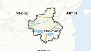 Hartă / Skanderborg