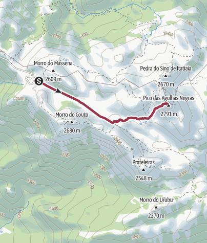 Map / Pico Agulhas Negras