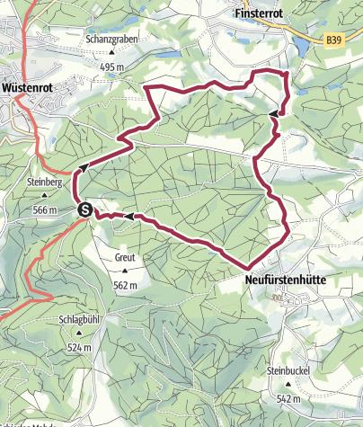 Karte / Vorderbüchelberg - Rottal - Kuhnbachtal
