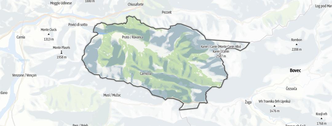 Karte / Bergtouren in Resia