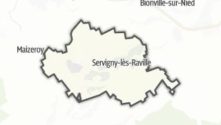 Mapa / Servigny-lès-Raville