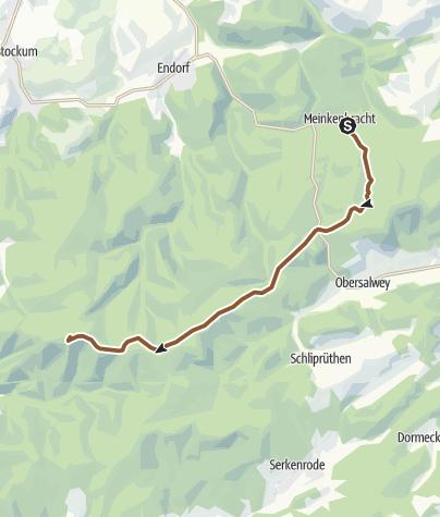 Karte / von Meinkenbracht nach Wildewiese