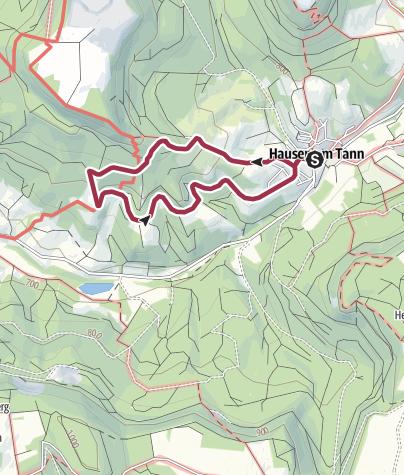 Karte / Tanzwasen-Runde - Hausen am Tann