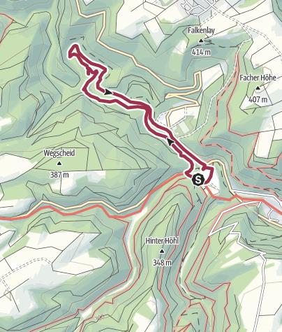 Karte / Durch das Üßbachtal zur Entersburg