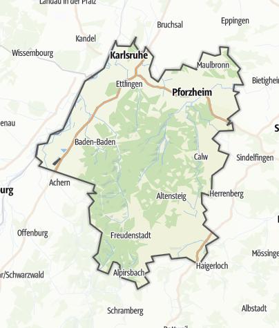 Karte / Nördlicher Schwarzwald
