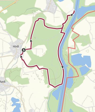 Karte / Treidlerweg plus Ziegeleimuseum