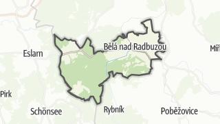 Karte / Belá nad Radbuzou