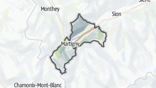 Karte / Martigny