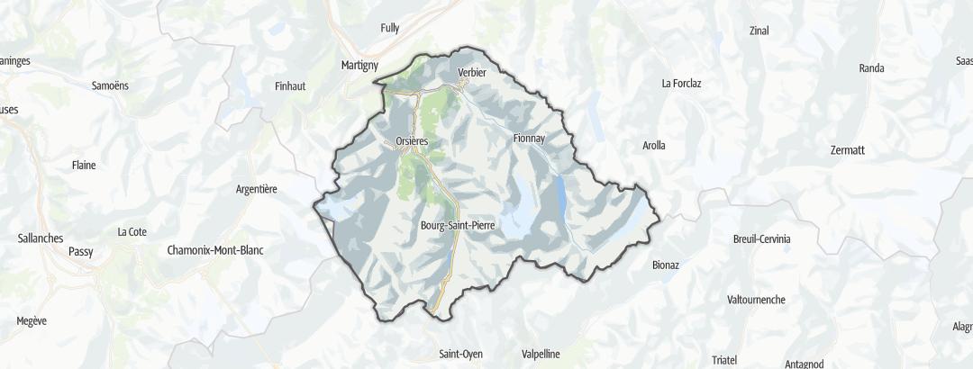 מפה / טיולים רגליים בEntremont