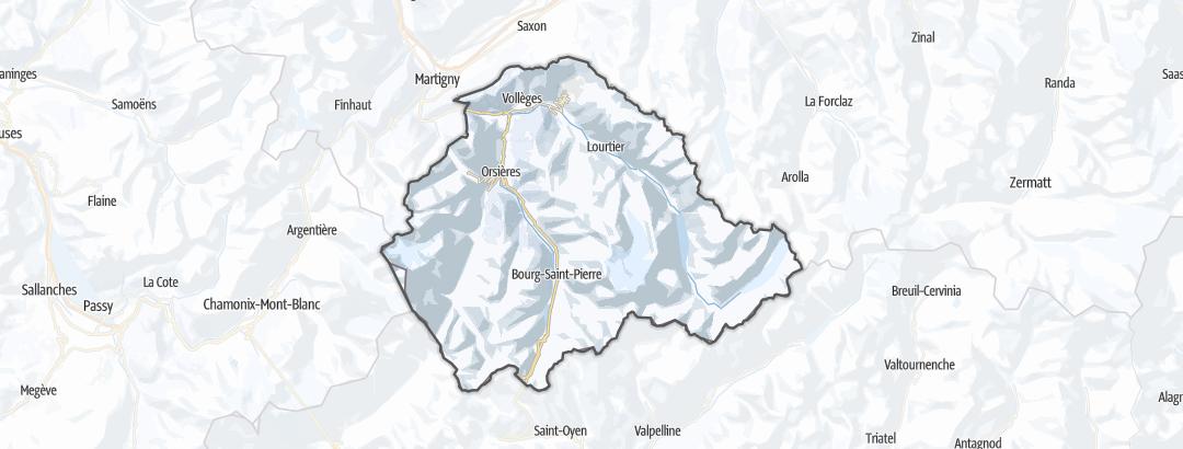 Kart / Skiturer i Entremont