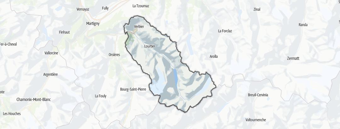 Карта / Bagnes