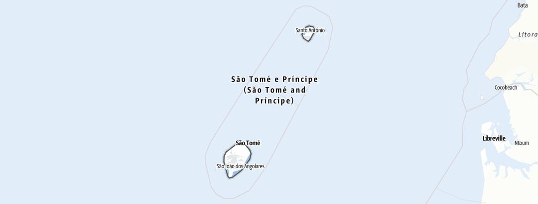 Karte / Sao Tomé und Principe