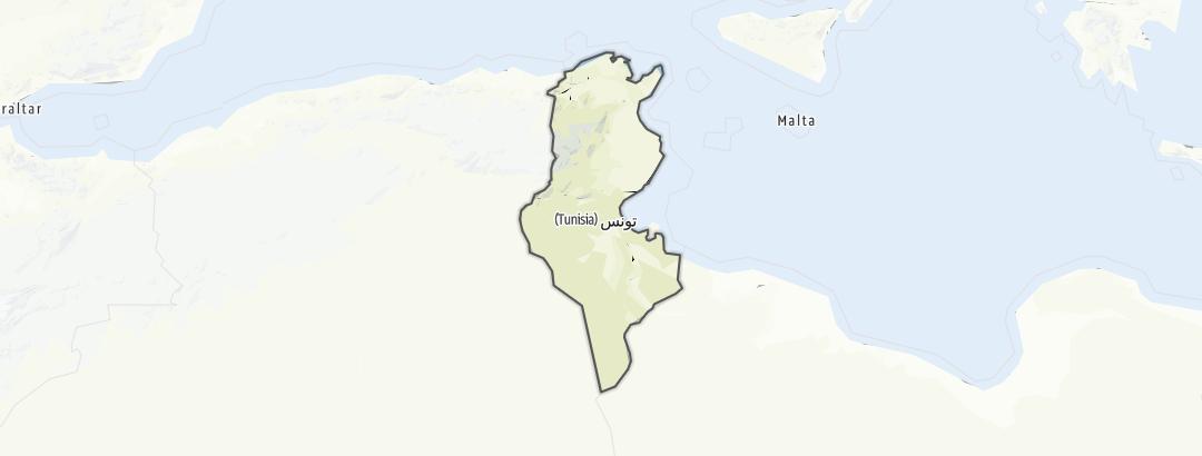 Karte / Touren in Tunesien