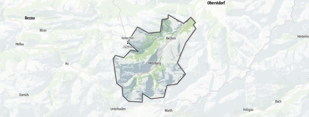 Map / Mountaineering in Kleinwalsertal