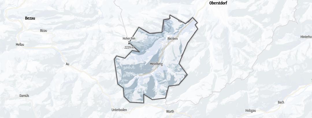 Térkép / Téli túrázás,  Kleinwalsertal területén