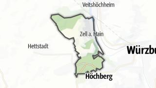 Mapa / Zell am Main
