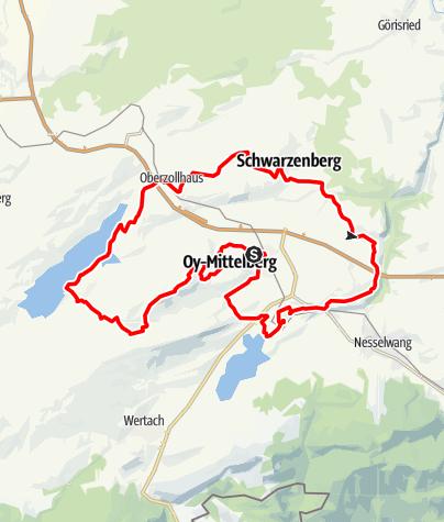 Karte / Auf SEINER Spur - ein Glaubens- und Kirchenrundweg