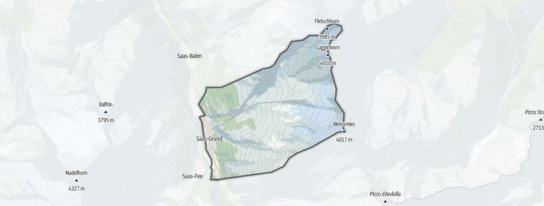Map / Hiking in Saas-Grund