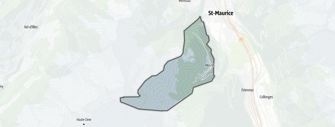 Térkép / Túrázás,  Mex (VS) területén