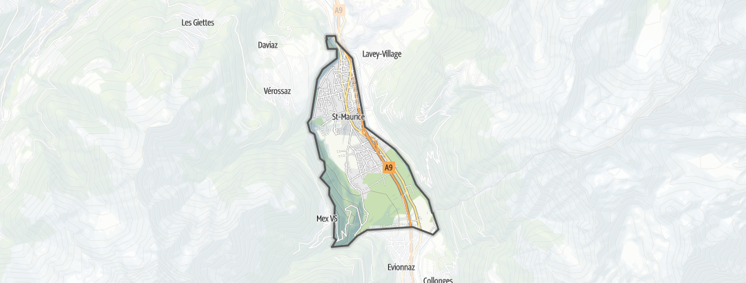 Térkép / Túrázás,  Saint-Maurice területén