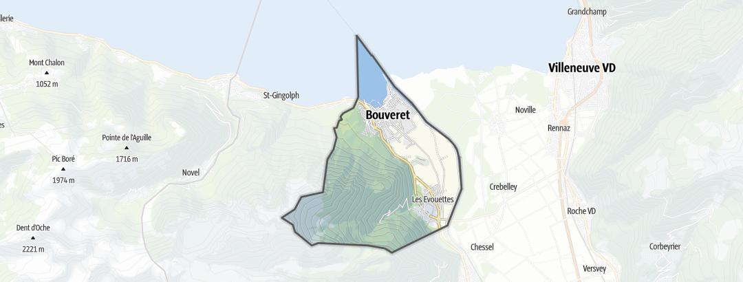 Térkép / Túrázás,  Port-Valais területén