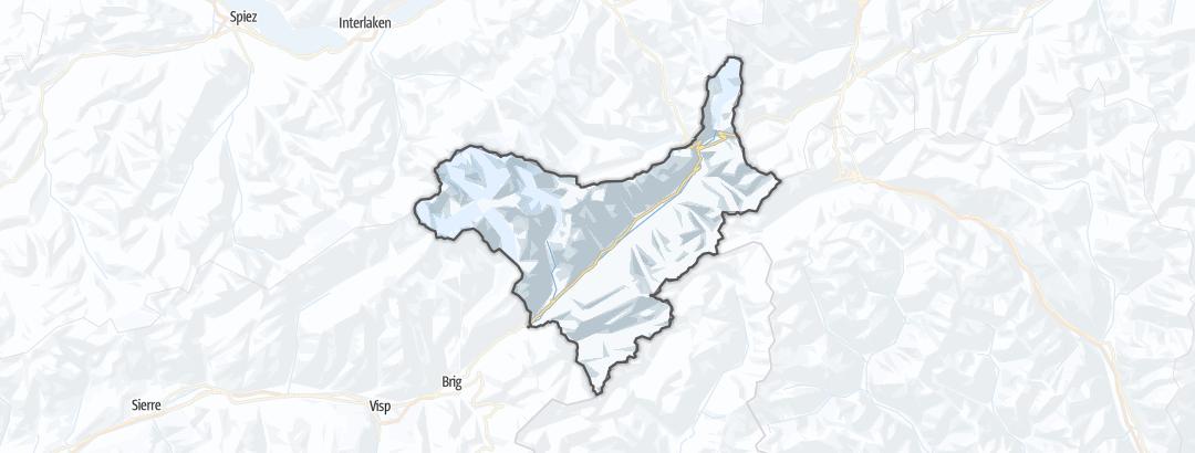 Hartă / Schi de tură in Goms