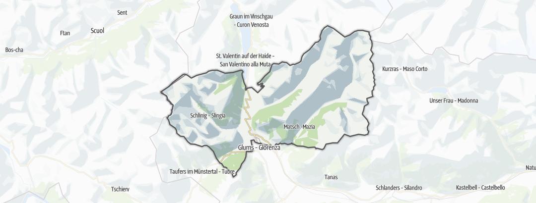 Hartă / Drumeții montane in Mals
