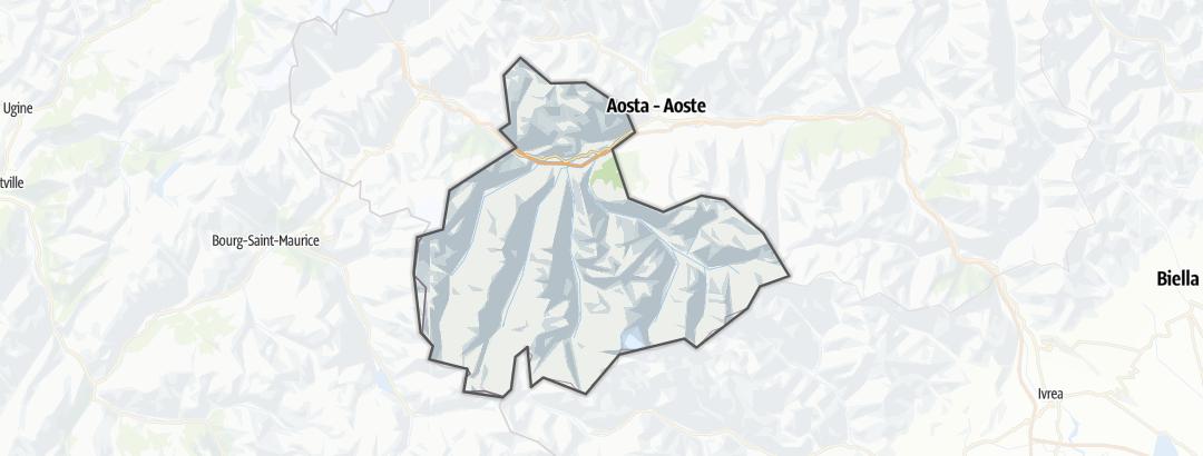 Mappa / Sentiero alpinistico in Cogne e Gran Paradiso