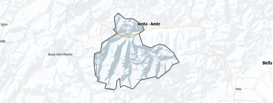 地图 / 在Cogne und Gran Paradiso里的冬季活动