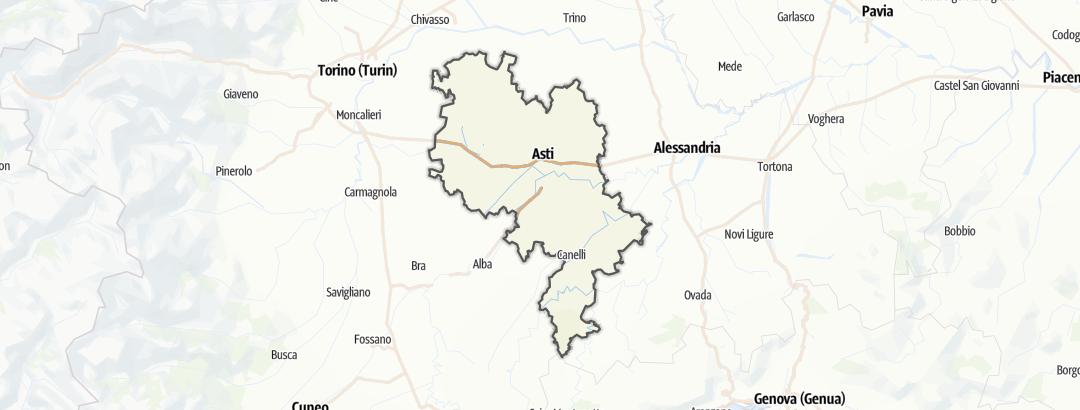 Kart / Vandring i Asti