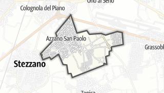 Hartă / Azzano San Paolo