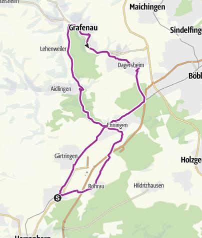 Karte / Nufringen-Grafenau-Dagersheim-Nufringen