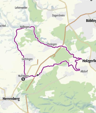 Karte / Nufringen-Altdorf-Aidlingen-Nufringen