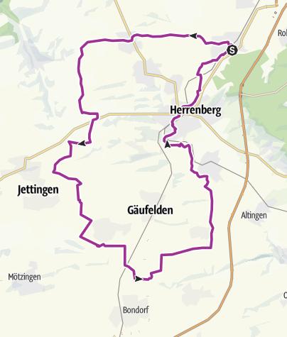 Karte / Nufringen-Öschelbronn-Tailfingen-Nufringen
