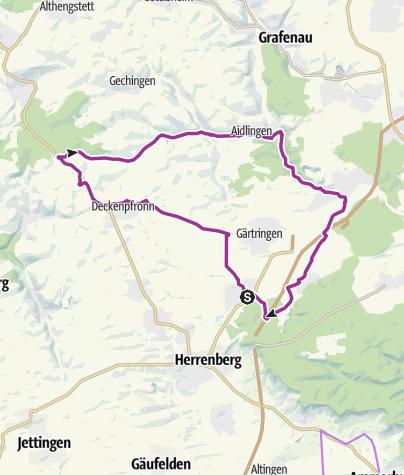 Karte / Nufringen-7-Tannen-Ehningen-Nufringen