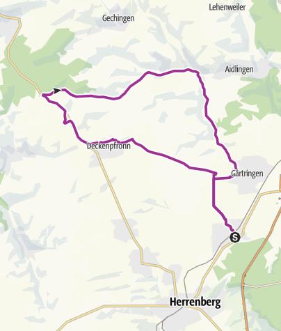 Karte / Nufringen-7 Tannen-Gärtringen-Nufringen