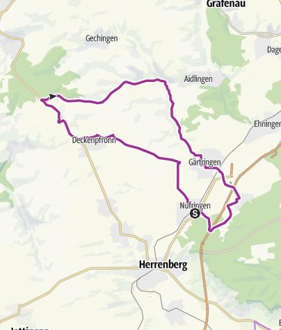 Karte / Nufringen-7 Tannen-Rohrau-Nufringen