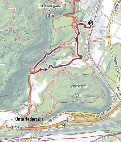 Karte / +++ Mit Kinder +++ Römer & Naturpfad Villach-Warmbad