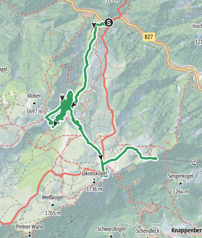 Map / HOROKURZY - Raxalpe 2.5.2015