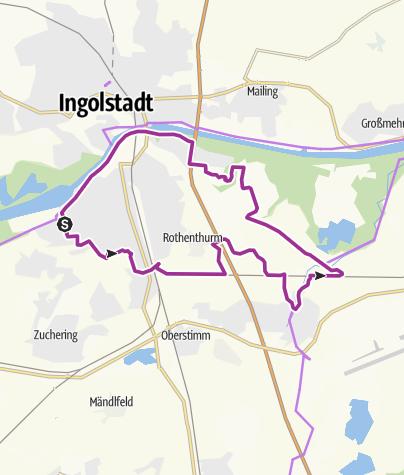 Karte / 05.05.2015 Radfahren ab Ingolstadt