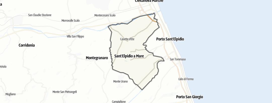 Карта / Тропы горного велосипеда в Sant'Elpidio a Mare
