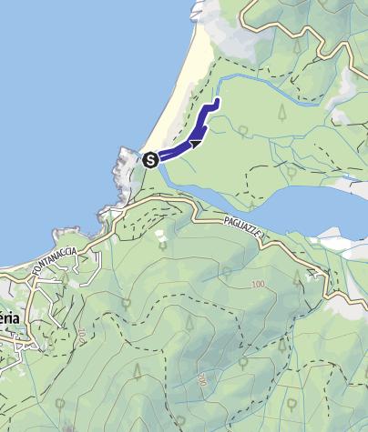 Karte / Kanutour im Fango-Delta