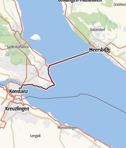 Karte / Oberschwäbischer Jakobsweg 08: Meersburg - Konstanz