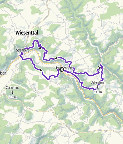 Karte / Wiesenttal-Trail 1000 ~ part of FS-Trailissimo